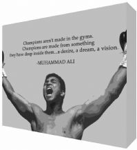 Muhammad Ali Inspiring Quote Canvas Art - NEW - Choose your size - Ready to Hang